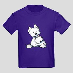 Westie Hug Kids Dark T-Shirt