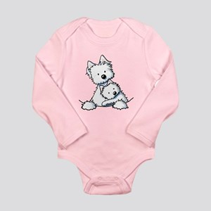 Westie Hug Long Sleeve Infant Bodysuit