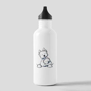 Westie Hug Stainless Water Bottle 1.0L