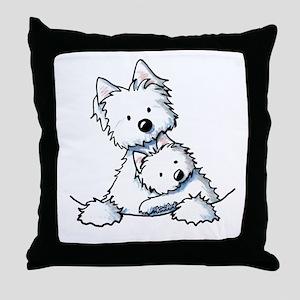 Westie Hug Throw Pillow