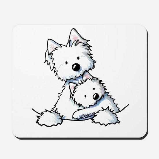 Westie Hug Mousepad