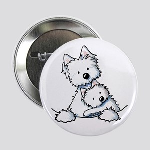 "Westie Hug 2.25"" Button"