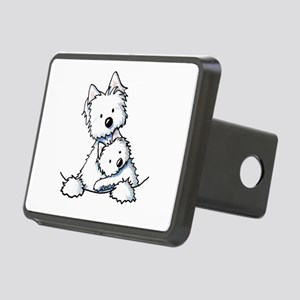 Westie Hug Rectangular Hitch Cover