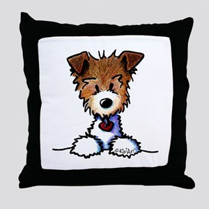 KiniArt Pocket JRT Throw Pillow