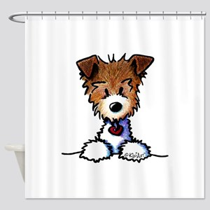 KiniArt Pocket JRT Shower Curtain