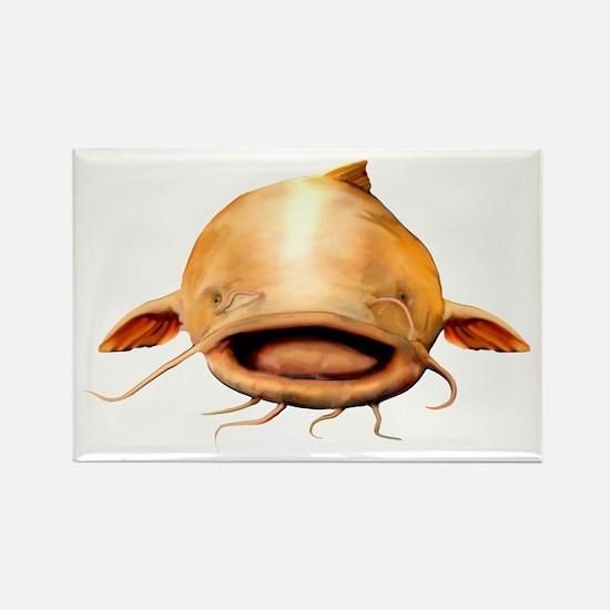 Smiling Flathead catfish Rectangle Magnet