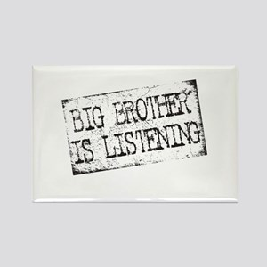 Big Brother is Listening Rectangle Magnet
