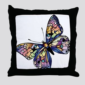 Exotic Butterfly Throw Pillow