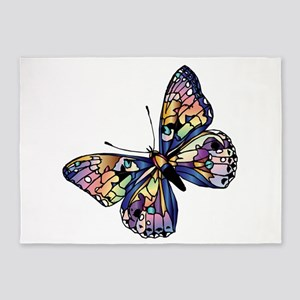 Exotic Butterfly 5'x7'Area Rug