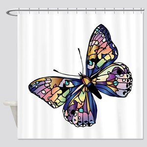 Exotic Butterfly Shower Curtain