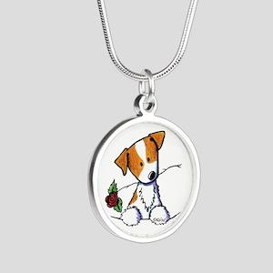 Pocket Rose JRT Silver Round Necklace