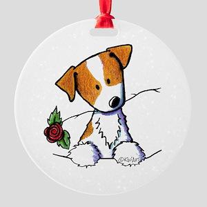 Pocket Rose JRT Round Ornament