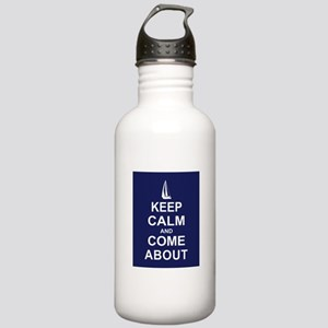 Keep Calm and Come About Stainless Water Bottle 1.