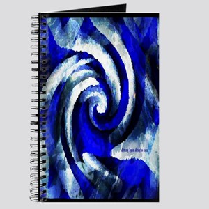 Mod Blue Swirl Journal