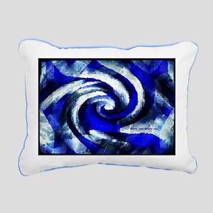 Mod Blue Swirl Rectangular Canvas Pillow