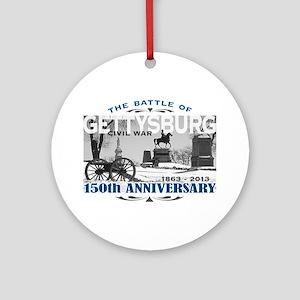 150 Anniversary Gettysburg Battle Ornament (Round)