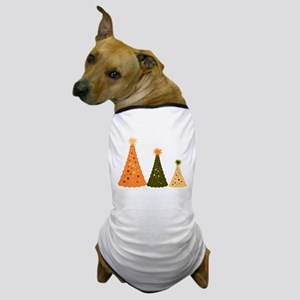 Christmas Trees Of Color and Dog T-Shirt