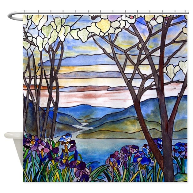 Stained Glass Shower Curtains   CafePress