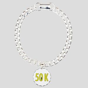50 k Charm Bracelet, One Charm