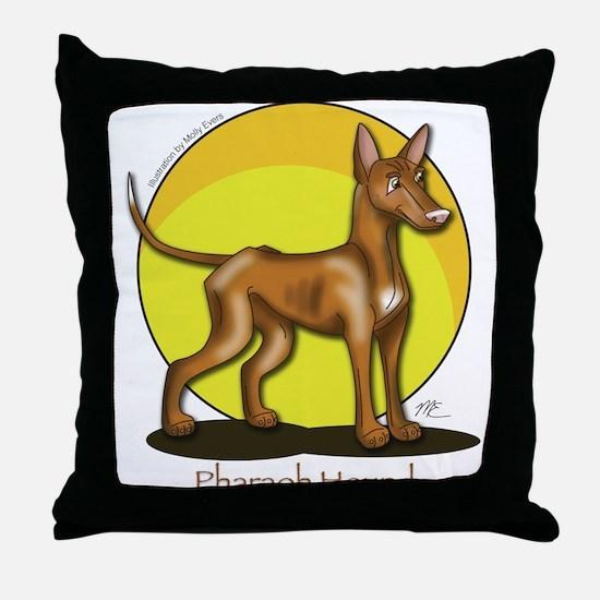Pharaoh Hound Illustration Throw Pillow