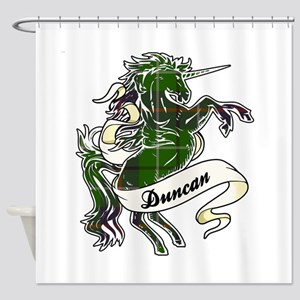 Duncan Unicorn Shower Curtain