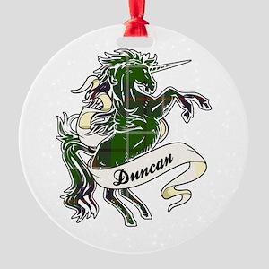 Duncan Unicorn Round Ornament
