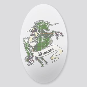 Duncan Unicorn Sticker (Oval)