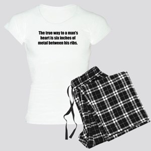 True way to a man's heart Women's Light Pajamas