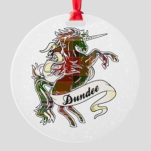 Dundee Unicorn Round Ornament