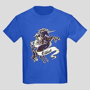 Elliot Unicorn Kids Dark T-Shirt