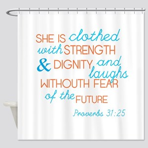 Proverbs 31 Woman Shower Curtain