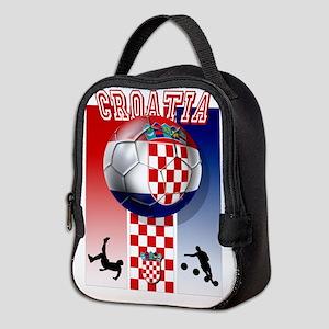 Croatian Football Neoprene Lunch Bag
