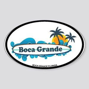 Boca Grande - Surf Design. Sticker (Oval)