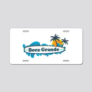 Boca Grande - Surf Design. Aluminum License Plate