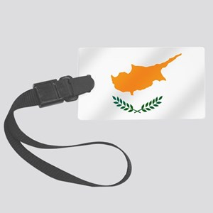 Flag of Cyprus Large Luggage Tag