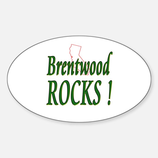 Brentwood Rocks ! Oval Decal