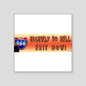 Highway to Hell Reaper obama Bumper Sticker Sticke