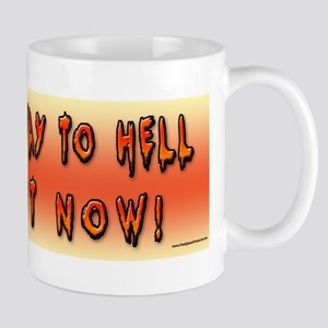 Highway to Hell Reaper obama Bumper Sticker Mug