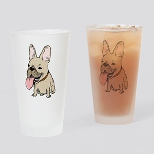 Frenchie Drinking Glass