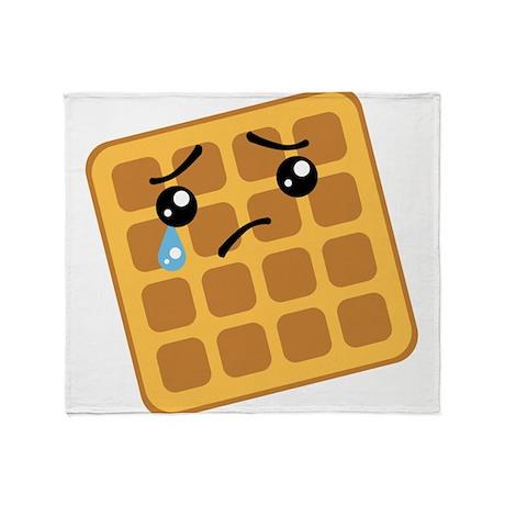Sad Waffle Throw Blanket
