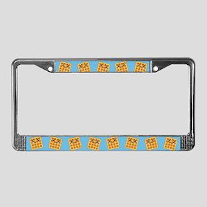 Sad Waffle License Plate Frame