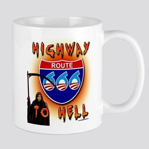 Highway to Hell Reaper obama Mug