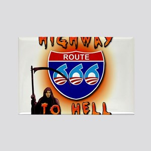 Highway to Hell Reaper obama Rectangle Magnet