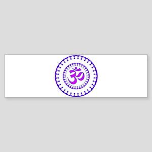 Ornate Om Smybol Purple Bumper Sticker