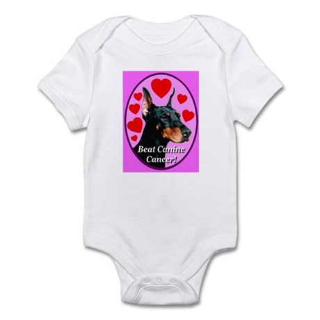 Beat Canine Cancer Cyan Infant Bodysuit