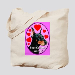 Beat Canine Cancer Cyan Tote Bag