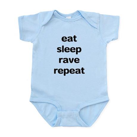 eat sleep rave. Infant Bodysuit