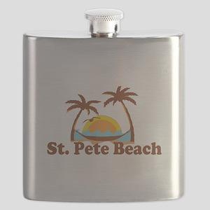 Boca Grande - Palm Trees Design. Flask