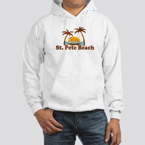 Boca Grande - Palm Trees Design. Hooded Sweatshirt