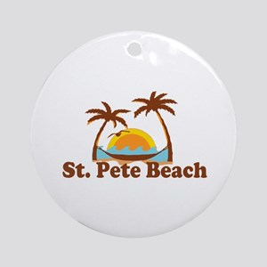 Boca Grande - Palm Trees Design. Ornament (Round)